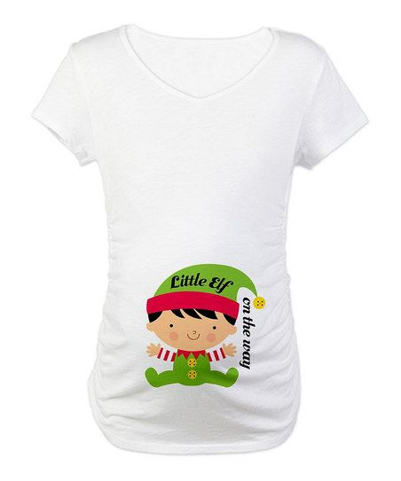 ff27bf18049bf White 'Little Elf on the Way' Maternity Tee | Future Sean/Kristen Jr ...