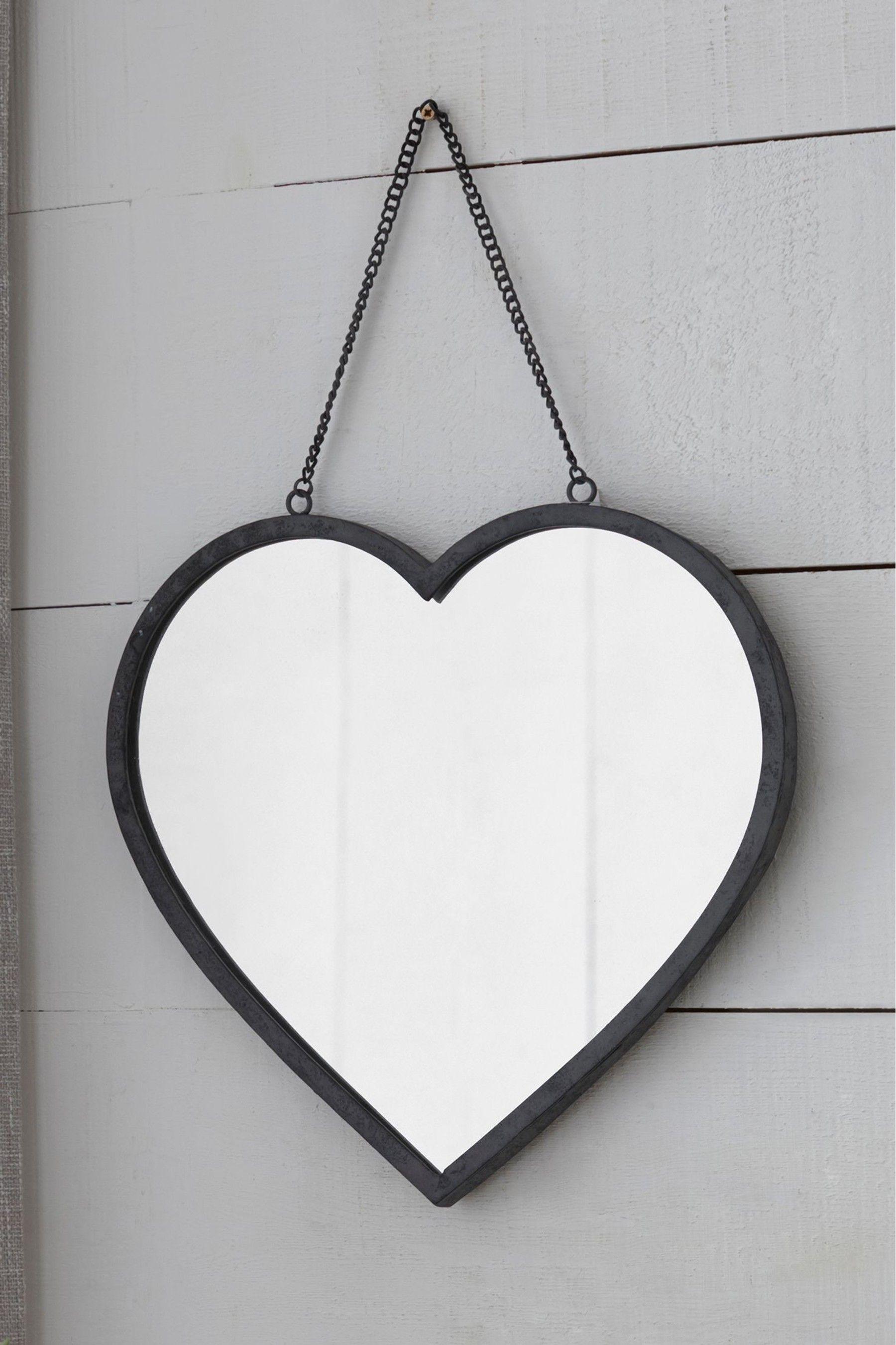 Vintage Effect Heart Mirror In 2020 Heart Mirror Mirror Overmantle Mirror