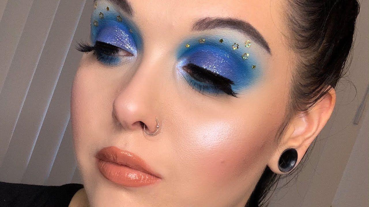 STARRY EYES GLITTER MAKEUP Glitter makeup, Gothic makeup