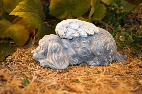 Angel Dog Statues Er Spaniel Concrete Garden