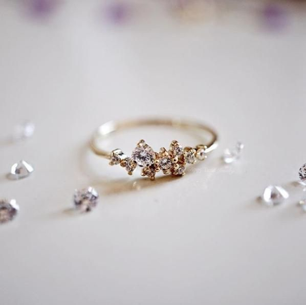 Snow Queen Diamontrigue Jewelry: 14K Snow Queen Dainty Ring In 2020
