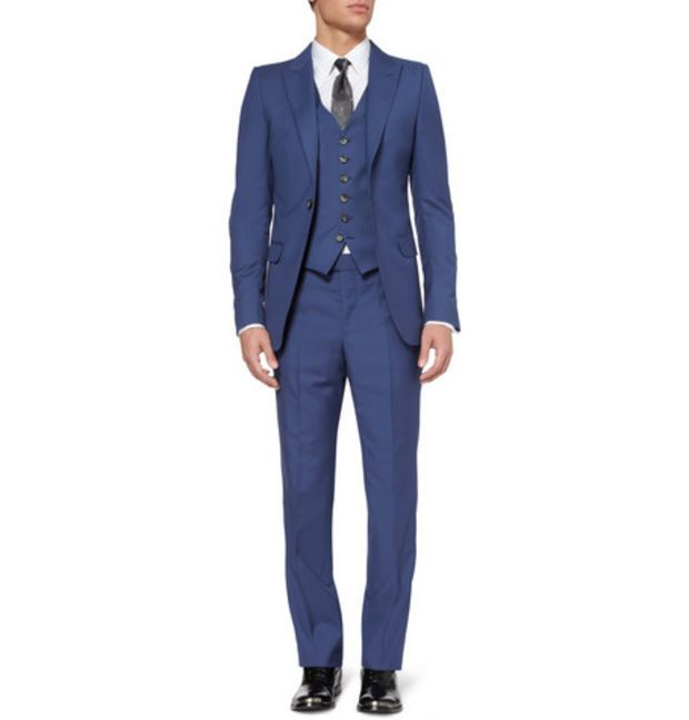 Cobalt Slim-fit Wool And Mohair-blend Suit Trousers Alexander McQueen GxkL4