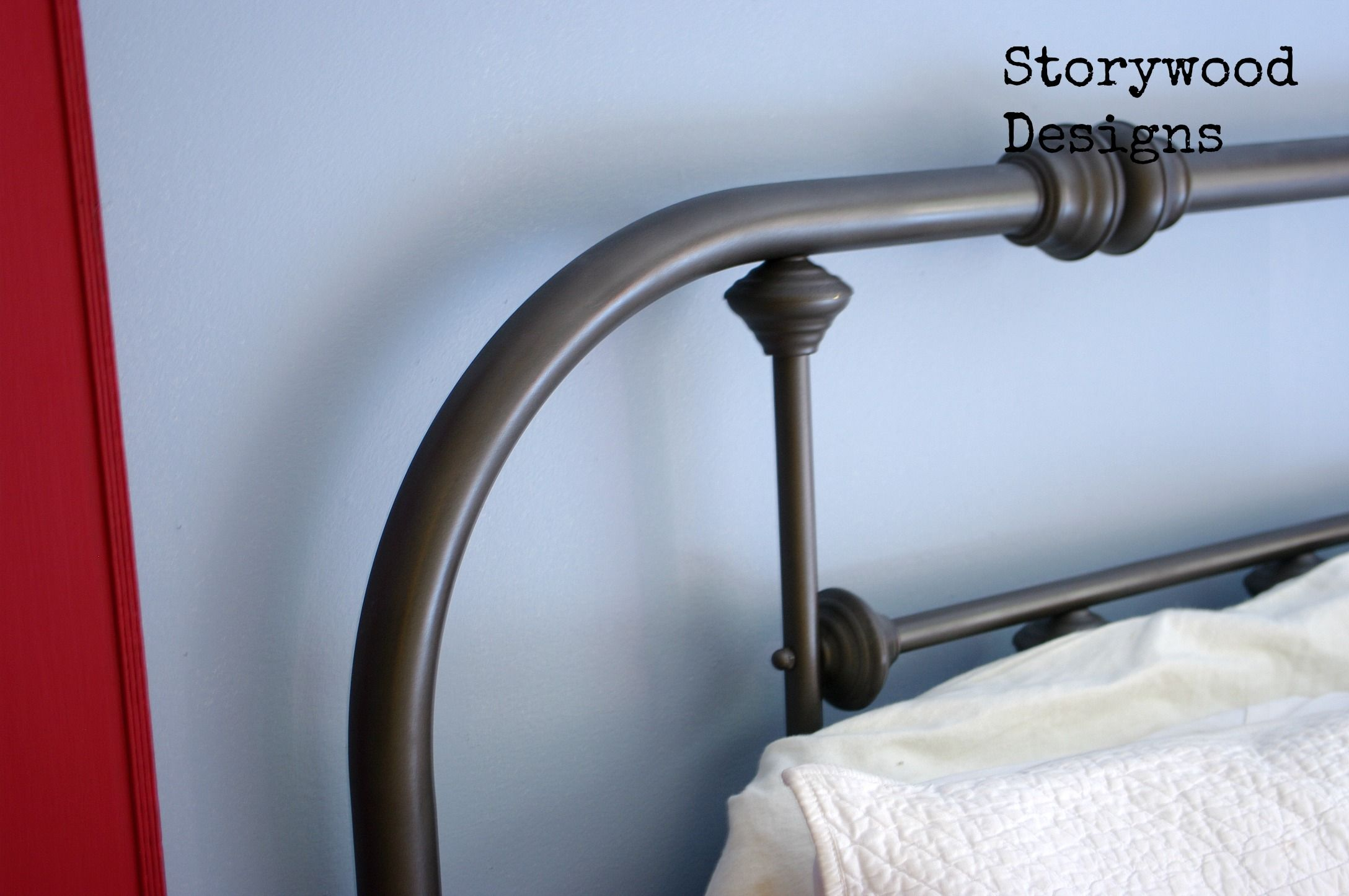 Oil Rubbed Bronze-- Painted Metal Bed Frame