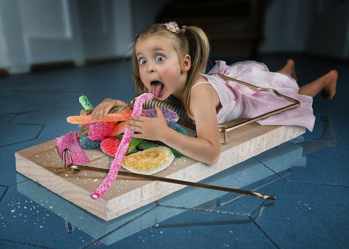 Foto: Padre hace increíbles imágenes Photoshopeadas con fotos de sus hijas photoshop inspiracion diseno galerias imagenes diseno