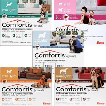 Comfortis For Dogs Cats Is The First Fda Approved Flea Control Tablet That Kills Fleas And Prevents Flea Infestations On Fo Pet Meds Dog Cat Flea Infestation