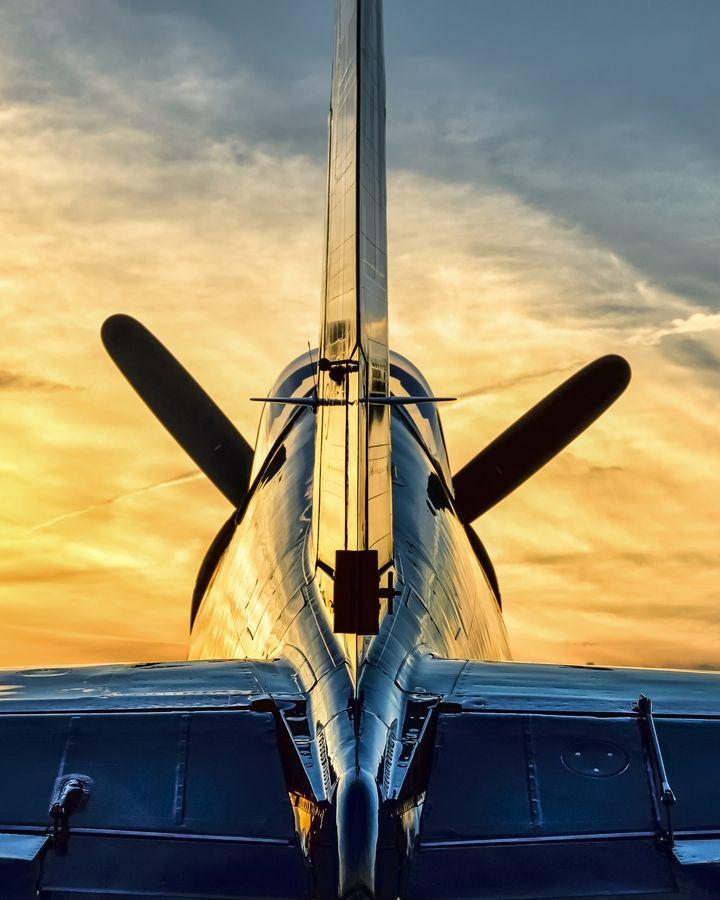 Aircraft Carrier Engine Room: Corsair & Sunset By Chris Buff, Via 500px