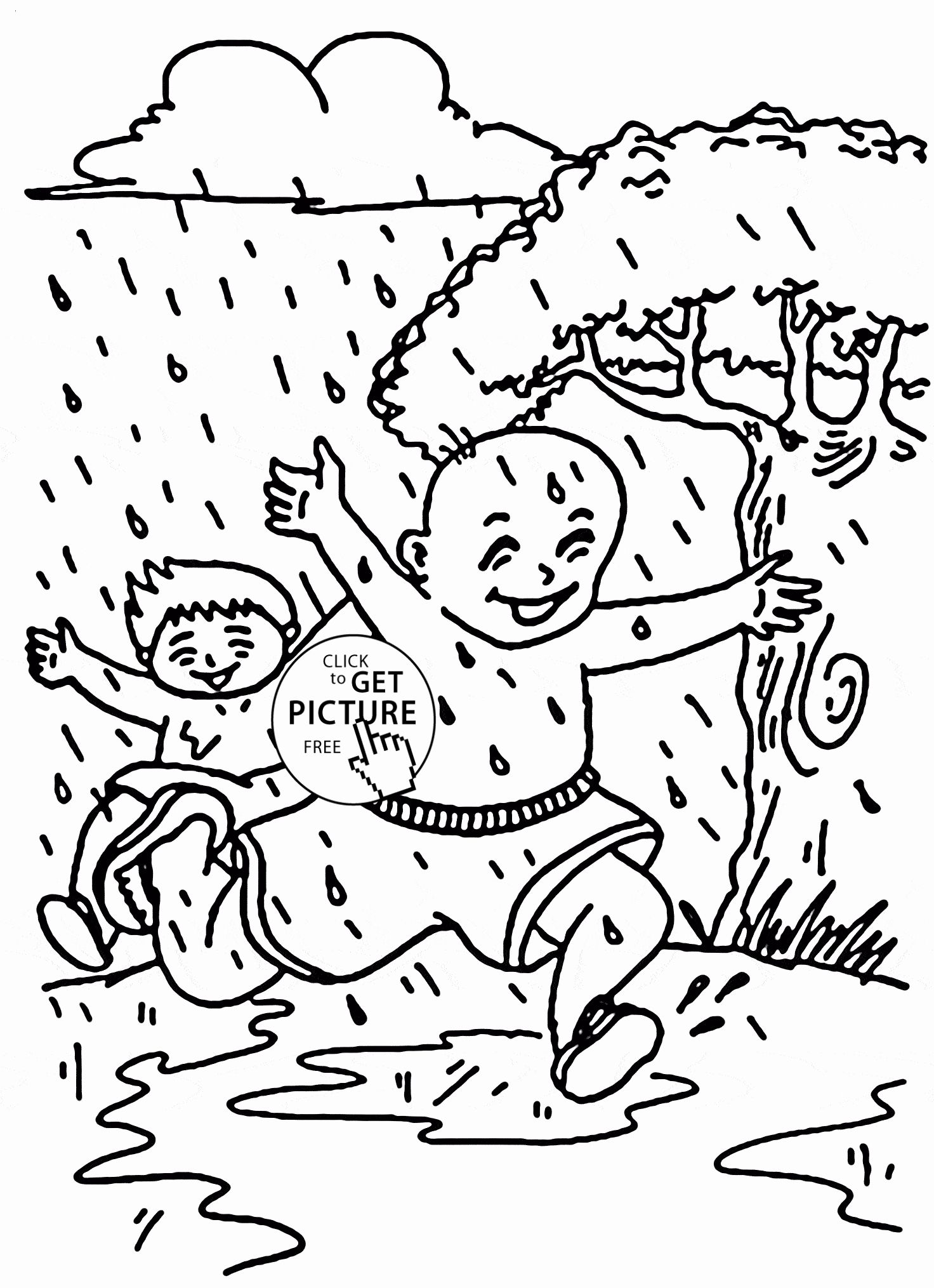 Sunny Weather Coloring Pages