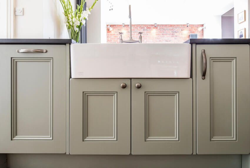 Sheffield Sustainable Kitchens Double Ceramic Belfast With Farrow