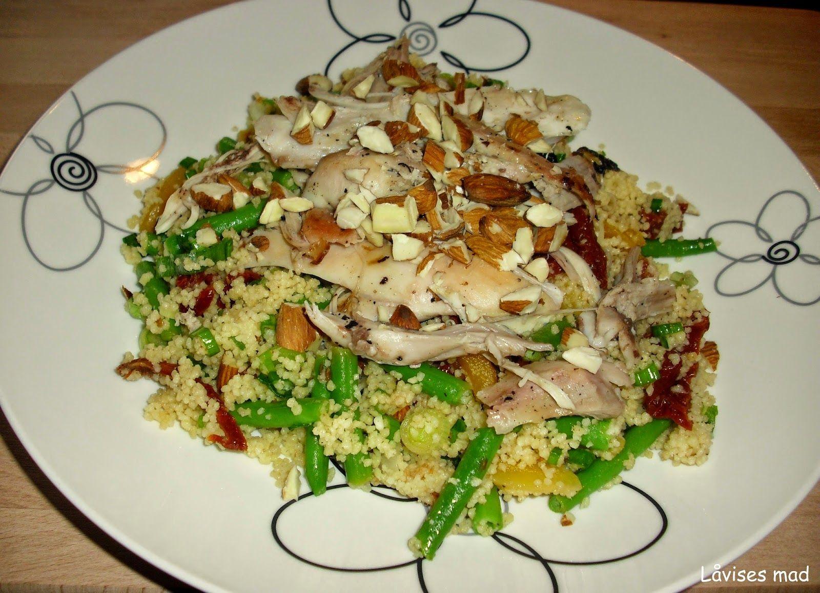 Låvises mad: Couscoussalat med grillet kylling.