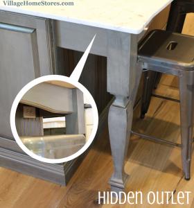 hidden outlet in kitchen island - Kitchen Island Outlet Ideas