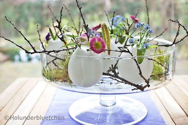 holunderbluetchen vasen aus wachs ostern. Black Bedroom Furniture Sets. Home Design Ideas