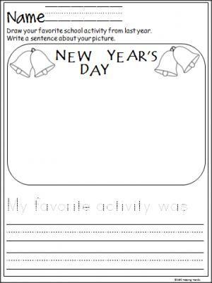 New Year S Day Writing For Primary Grades Madebyteachers Kindergarten Worksheets Kindergarten Math Worksheets Free Kindergarten Math Free