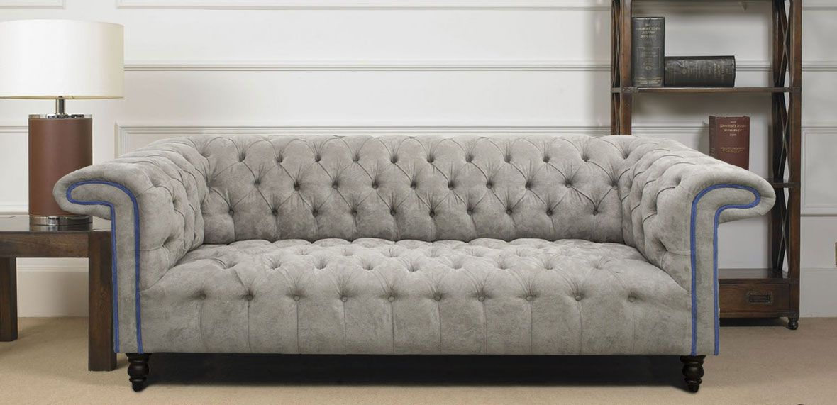 Grey Chesterfield Sofa A Stunning Elegance And Hormonally Beauty With Softness Black Fabric Sofa Sofa Grey Chesterfield Sofa