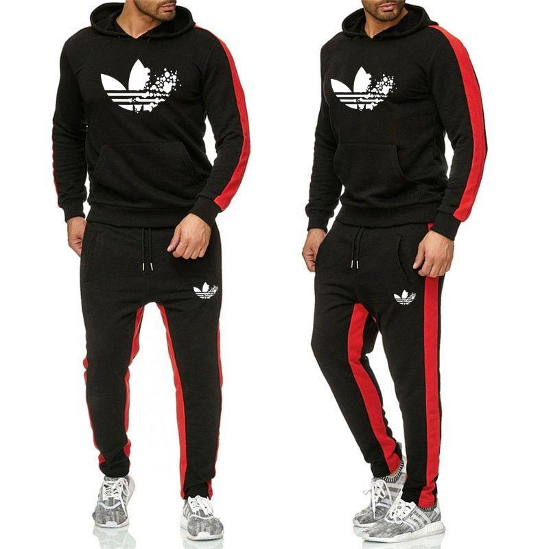 New 2019 Brand Tracksuit Fashion Men Women Sportswear Two Piece Sets All Cotton Fleece Thick Hoodie Pants Sportivnye Kostyumy Sportivnye Muzhchiny Komplekty Nike