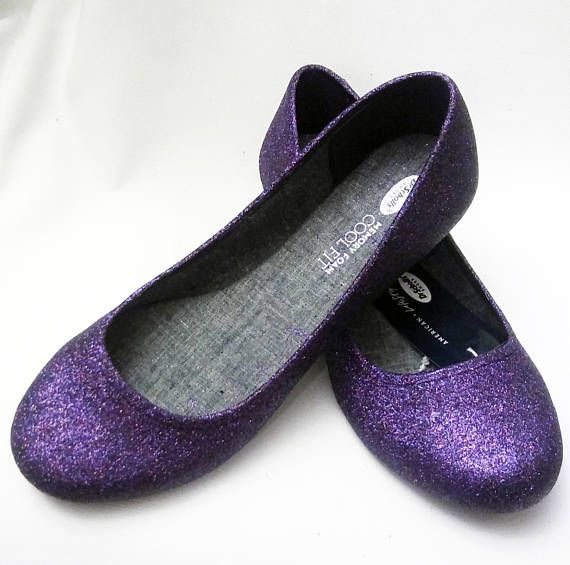 Glitter Flats Dew Berry Glitter Flats Wedding Shoes Sparkle