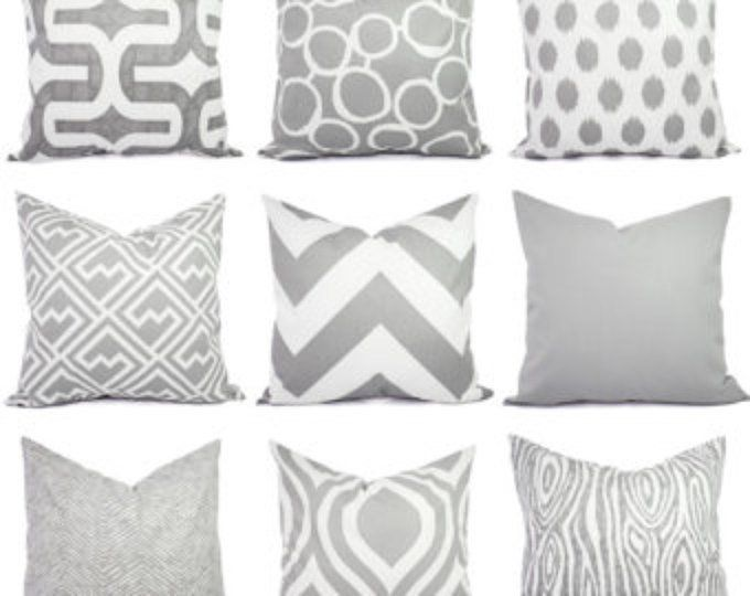 Groovy Grey Pillow Covers Grey And White Throw Pillows Decorative Cjindustries Chair Design For Home Cjindustriesco