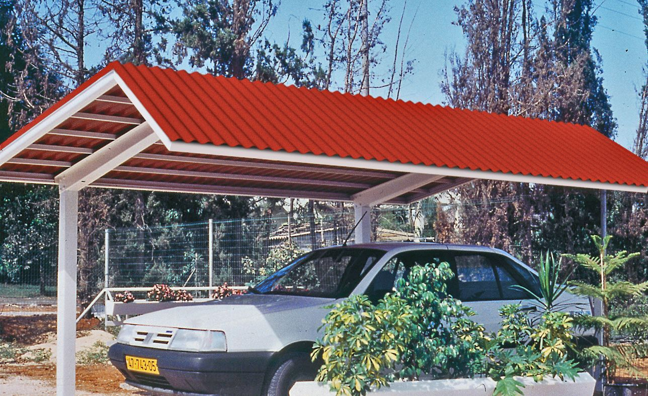 Suntop Corrugated Foamed Polycarbonate Sheet Is Used As Roofing For A Carport Corrugated Polycarbonate Panels Corrugated Roofing