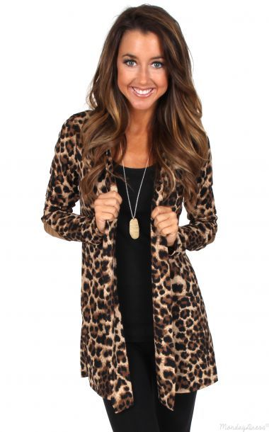 d84ebc1964ee Live While We're Young Leopard Print Cardigan | Casual cute in 2019 ...