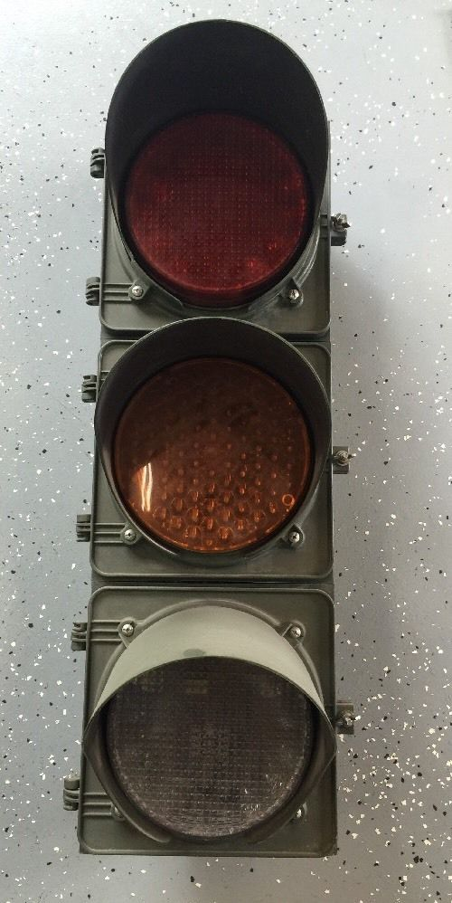 Vintage Retired 3 Signal Traffic Light Sign Traffic Control Technologies Works Traffic Light Sign Traffic Light Light