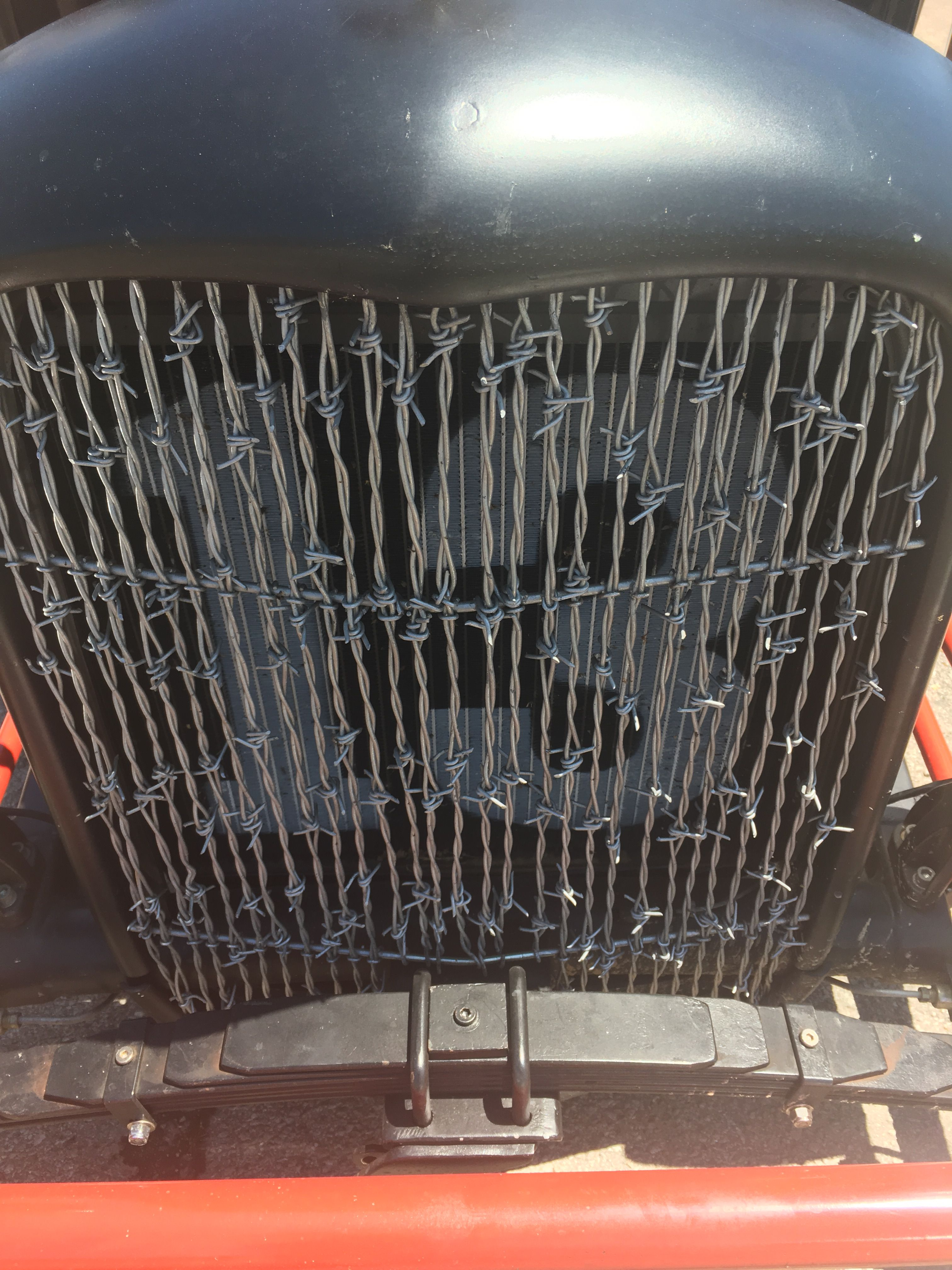Barbed Wire Grill Rat Rods Truck Rat Rod Rat Rod Cars