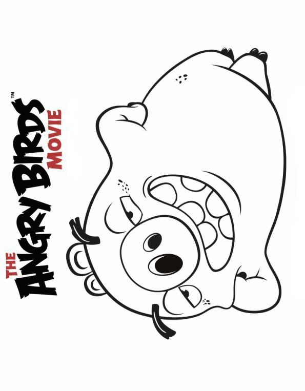 6 coloring pages of Angry Birds Movie ~ Can make Calendars and add ...