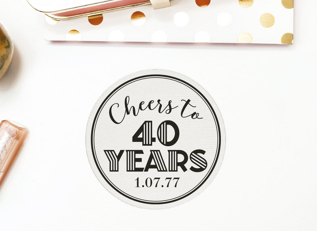 Posavasos personalizable para cumpleaños, 40 años, 50, 60, 30 años ...