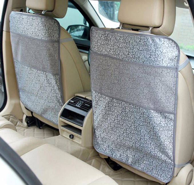 OUZHI For Fiat Punto 500 Panda Grey Beige Black Waterproof Car Seat Back Protector Mat