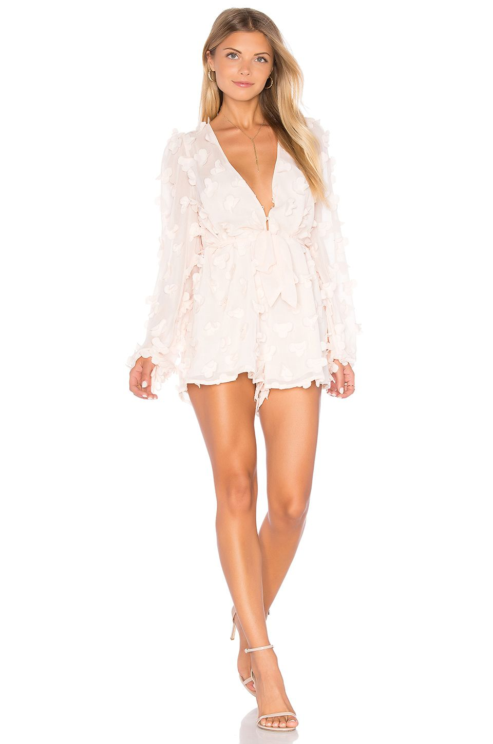 daa83bd5d2 Alice McCall Wild Flowers Romper in Shell Pink