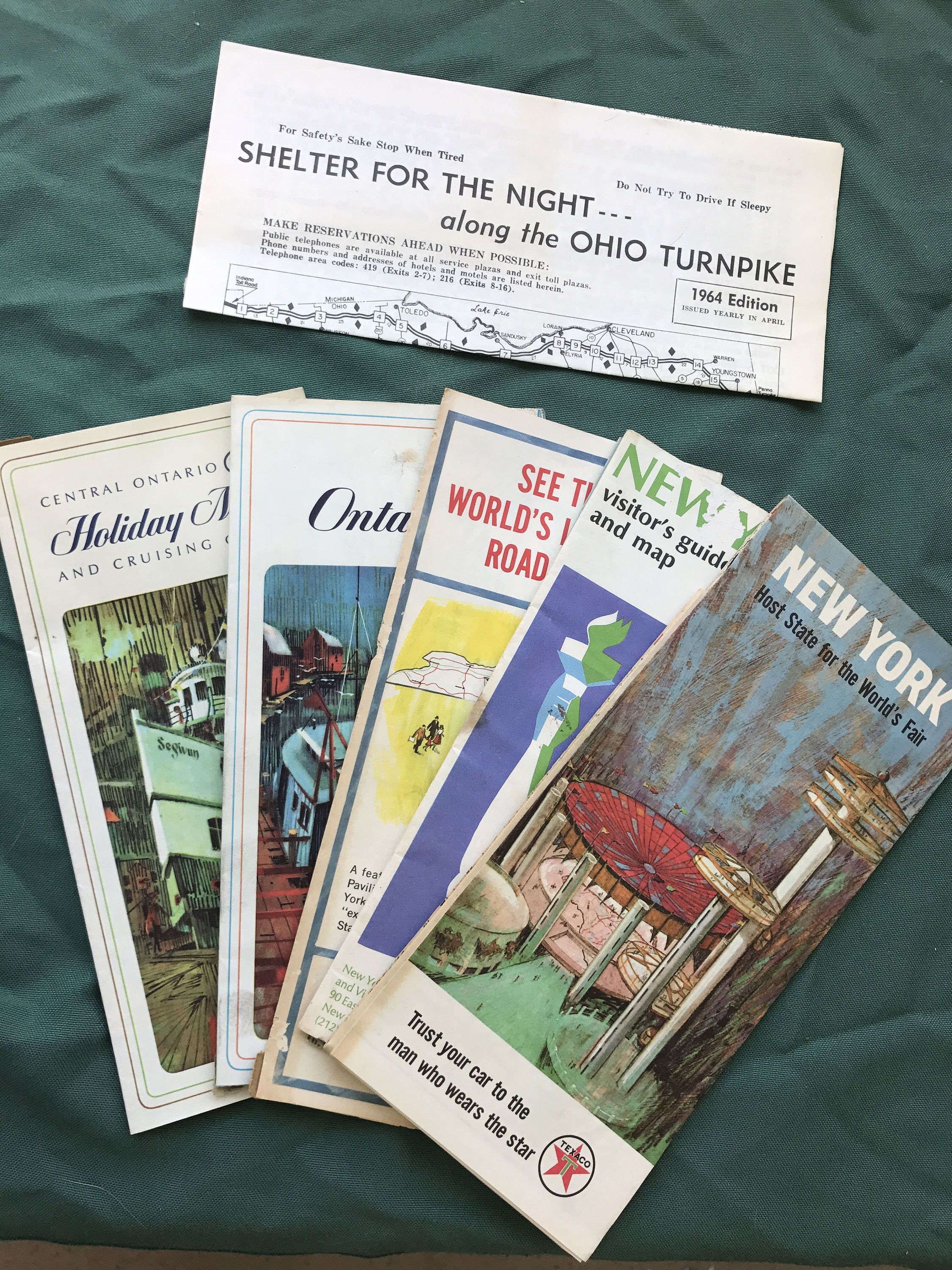 S Vintage US State Highway Maps World Fair Map NYC Visitor - Us travel safety map