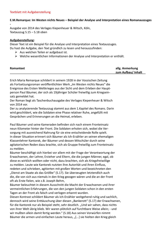 Analyse Auf Englisch Schreiben Aufbau Und Beispiele