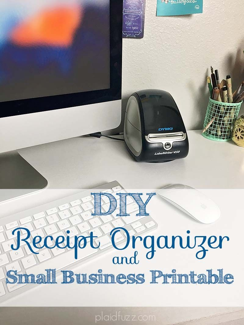 diy receipt organizer and small business printable keeping tax and