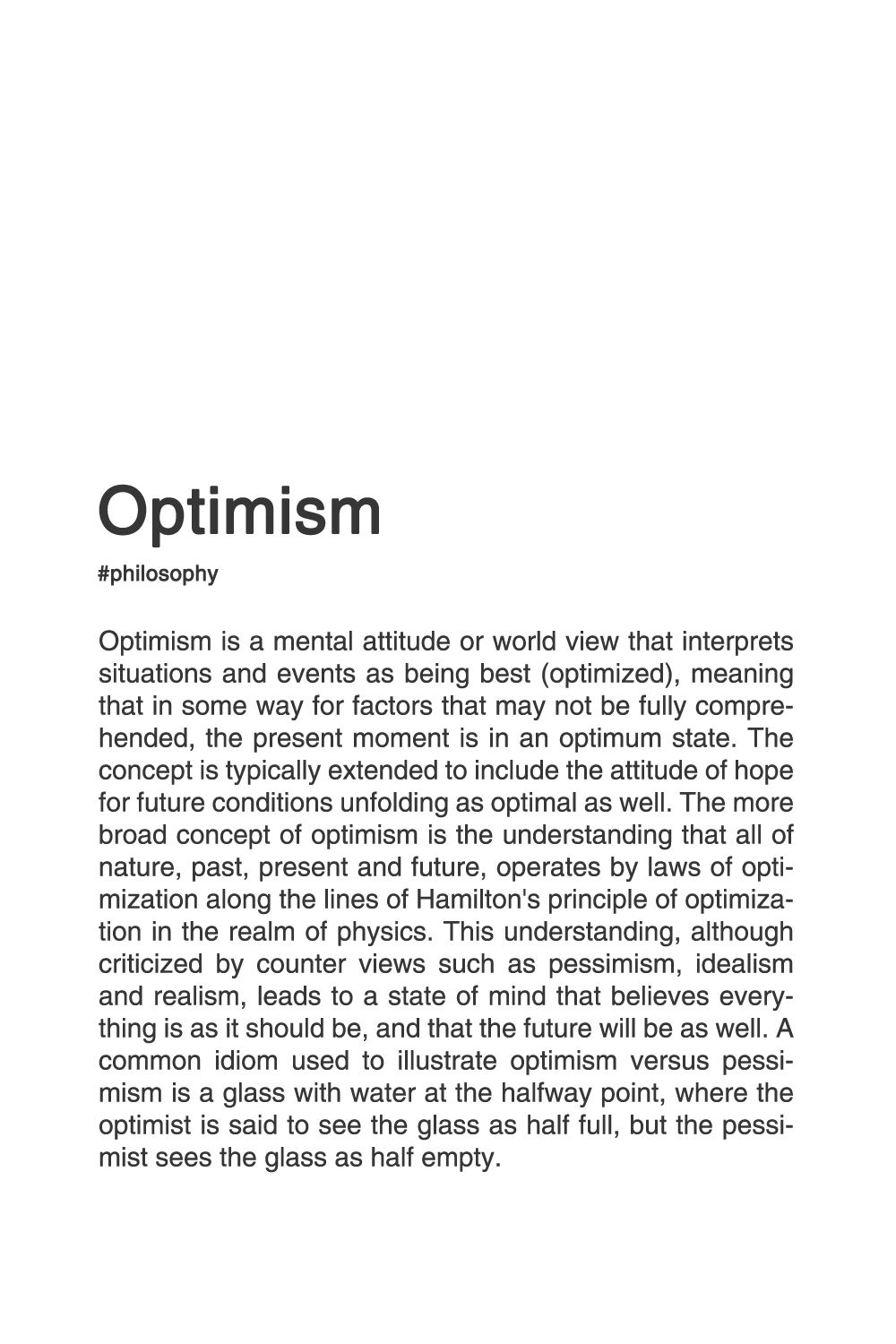 What Does The Word Optimistic Mean