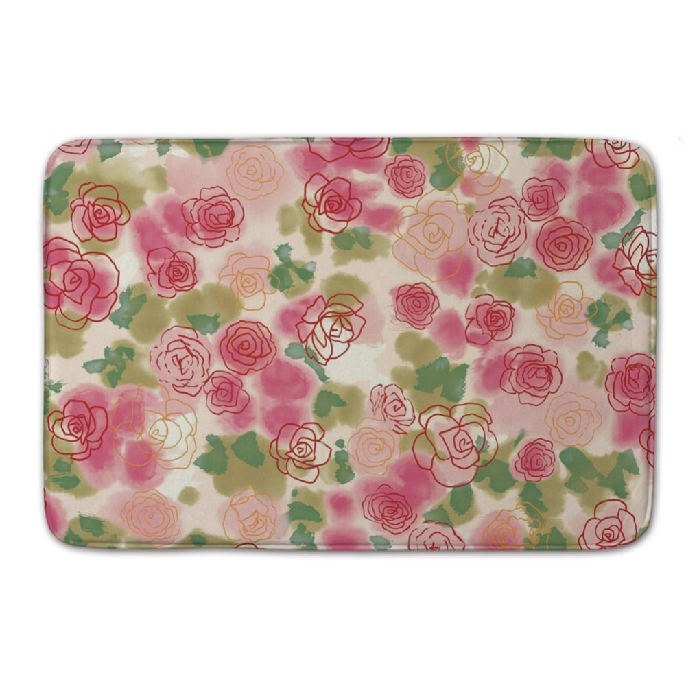 New Arrival Flower Pattern of SlipResistant Shoe Door Mat