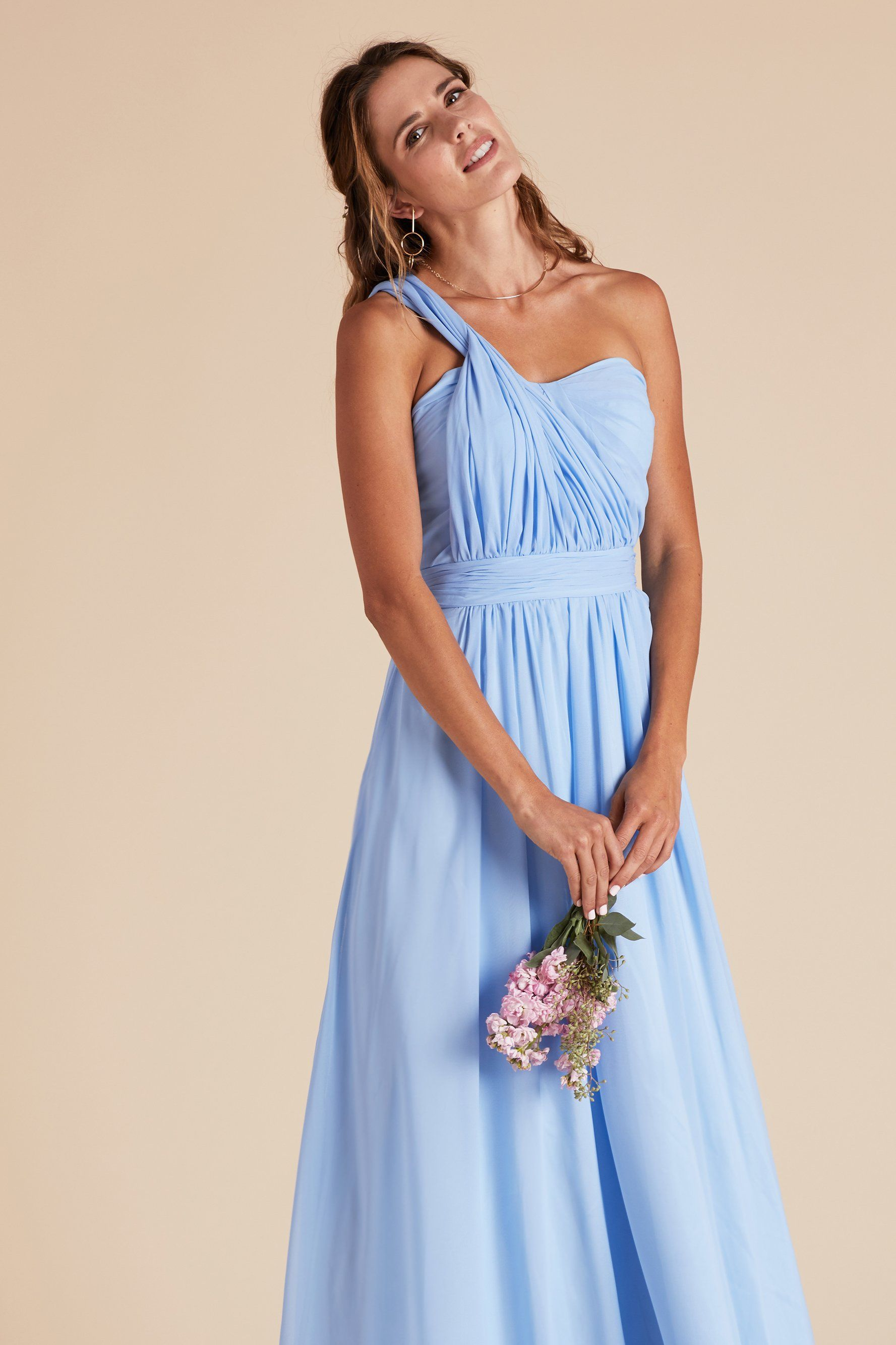 dresses lighting h chiffon dress gallery wedding bridesmaid hm blue m halter light