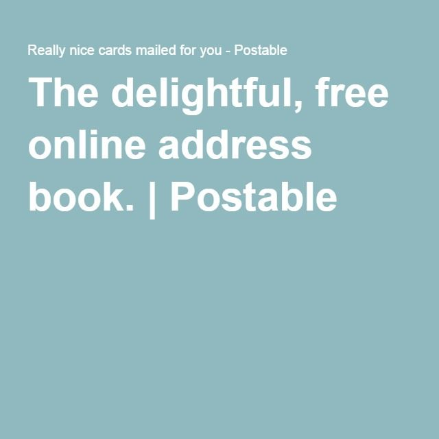 postable is a delightful free online address book the big day