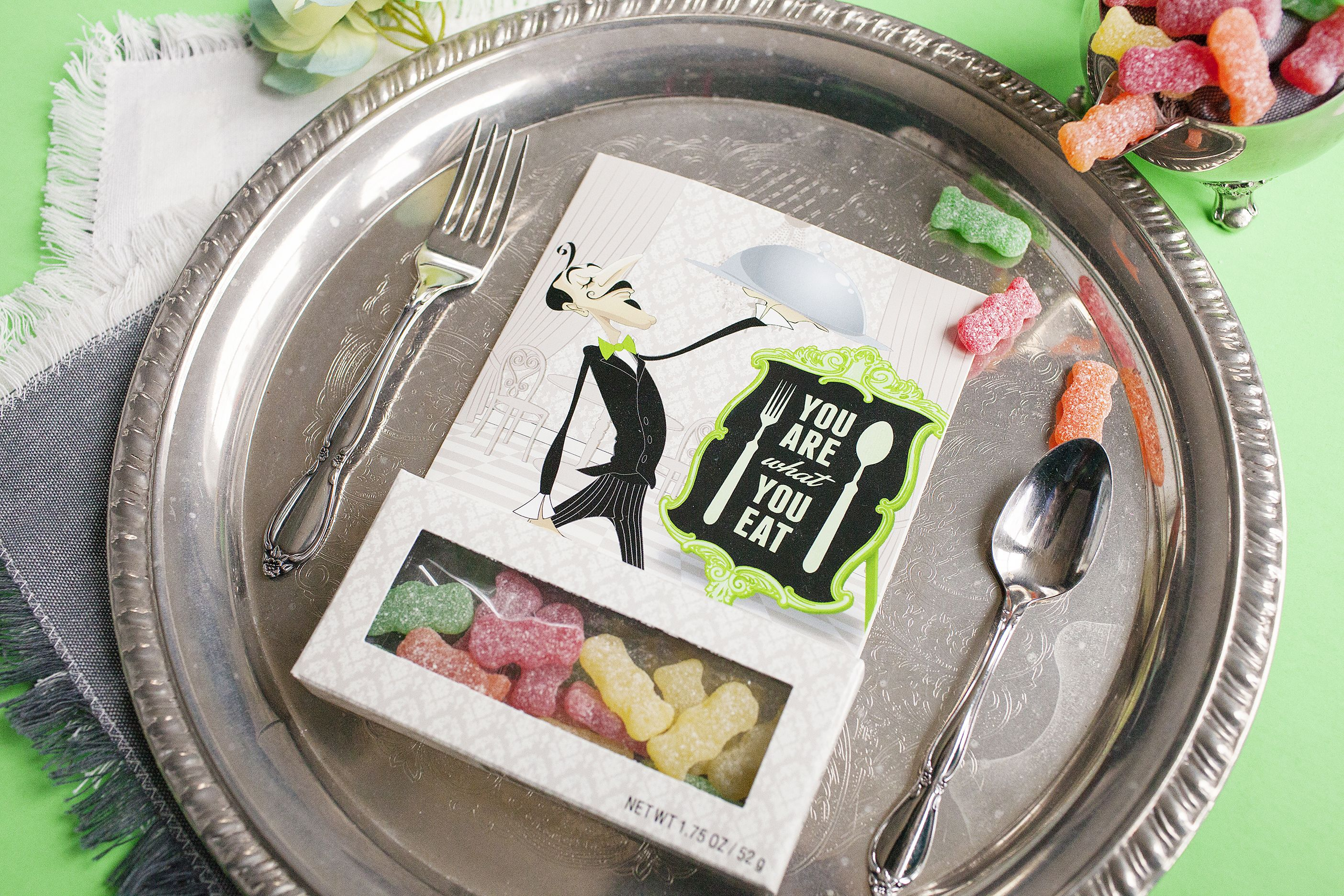 You Are What Eat Birthday Card Funny With Sour Patch Gummy Candy