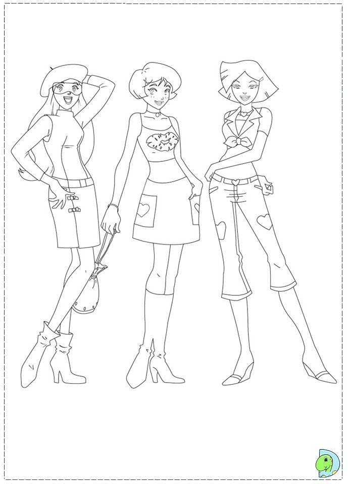 Totally Spies Coloring Pages Totally Spies Coloring Pages Colouring Pages