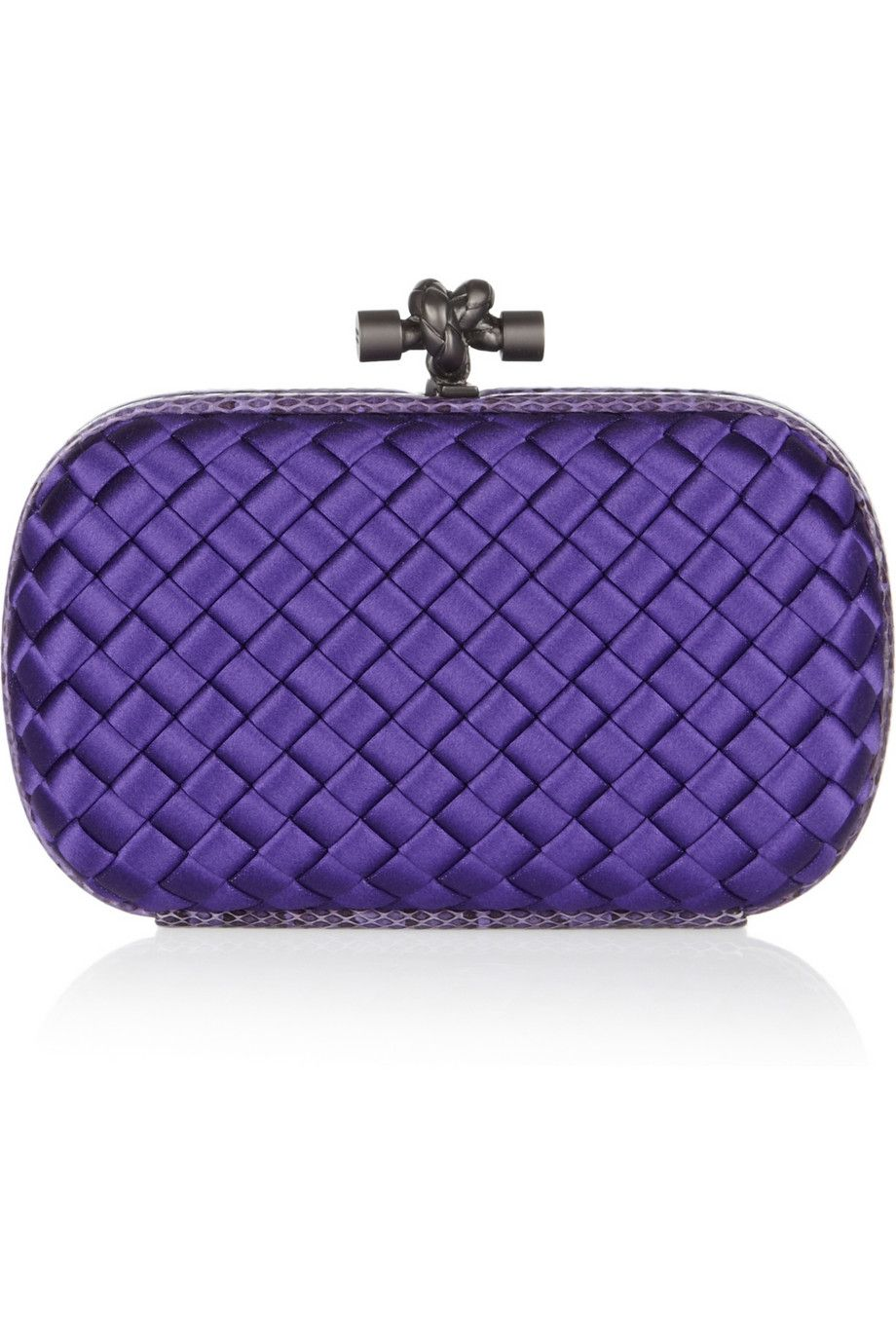 94b51fc036 purple satin knot clutch