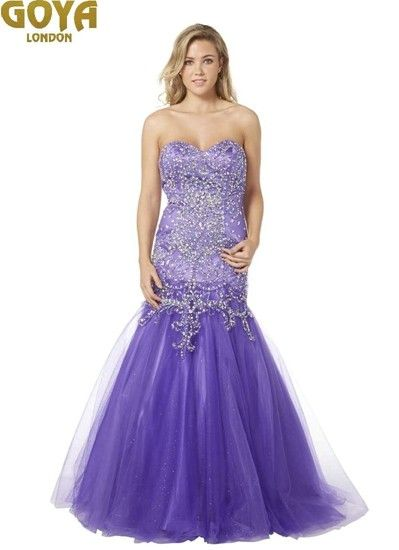 A gorgeous prom dress with lots of sparkle from Goya of London