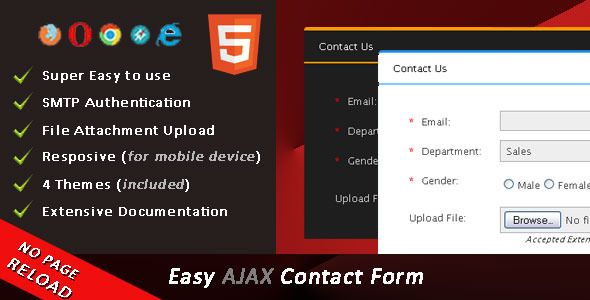 Easy Ajax Contact Form  Easy Ajax Contact Form Script Can