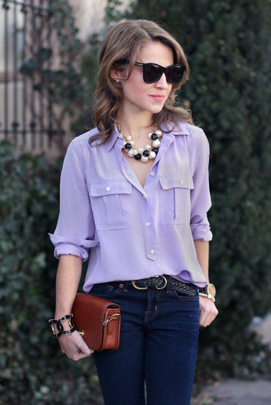 5a9bbc8da7e266 lilac silk blouse Et voila! de Nicole Claude