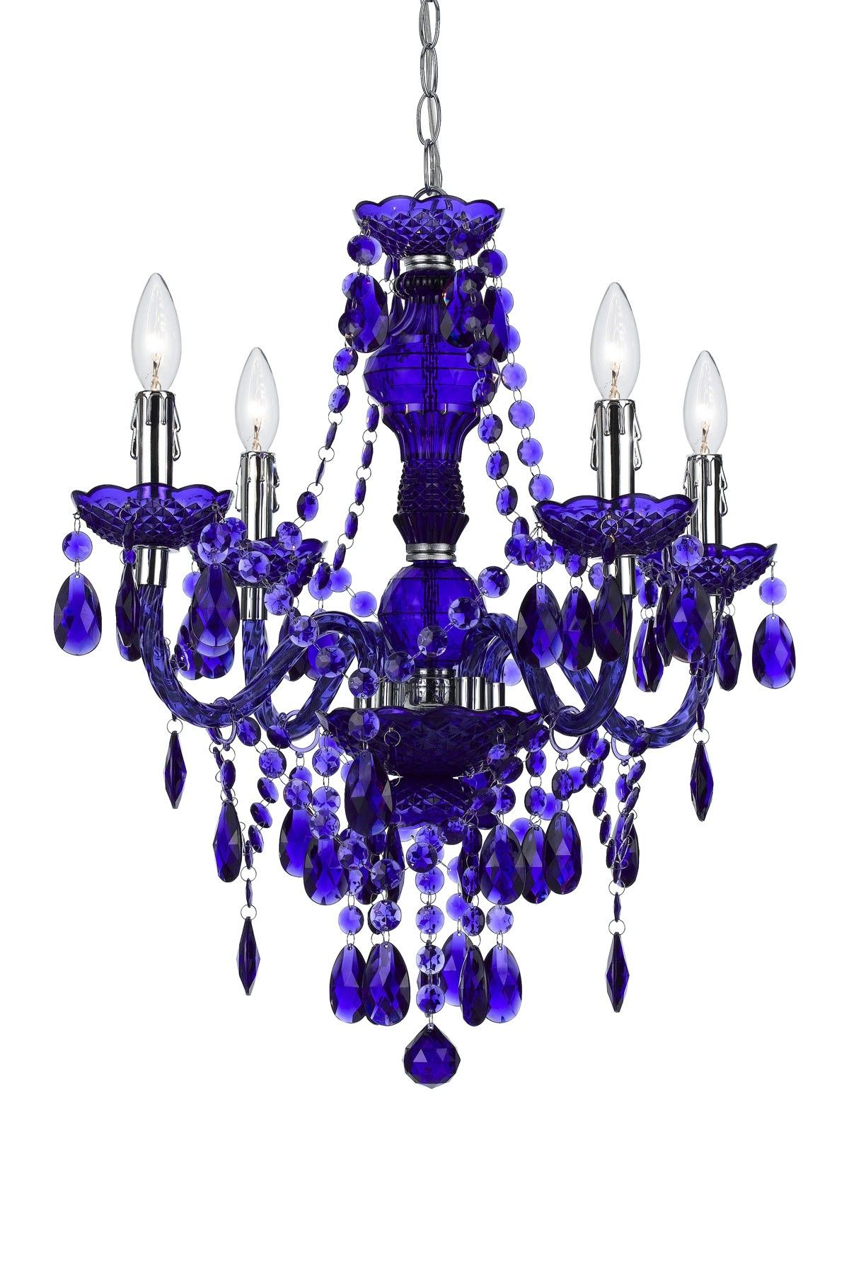 Mini Chandelier In Blue