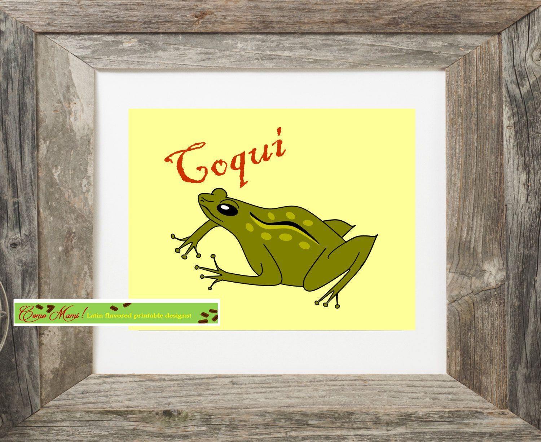 Coqui, Puerto Rican art, Coqui de Puerto Rico, Frog Caribbean art ...