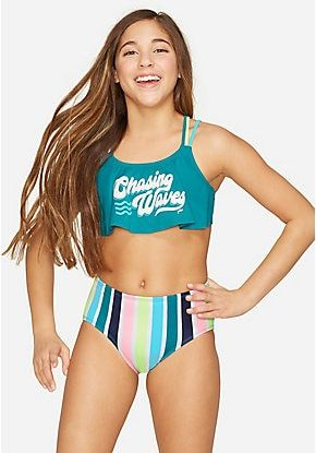 Girls' Bikinis & Two-Piece Swimsuits: Fringe, Ruffle & More – Swimsuit