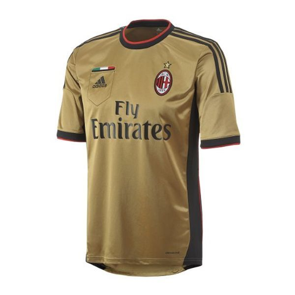 8000e5919 adidas Men s AC Milan 13 14 Third Jersey Dark Football Gold Black ...