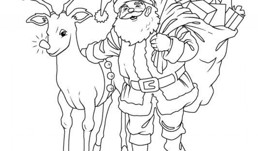 Santa-Claus-Reindeer-Coloring-Pages ...