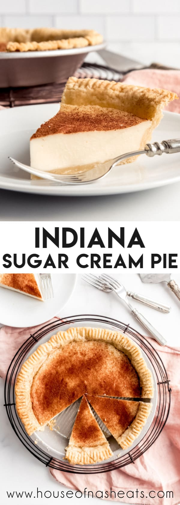 Indiana Sugar Cream Pie #sugarcreampie