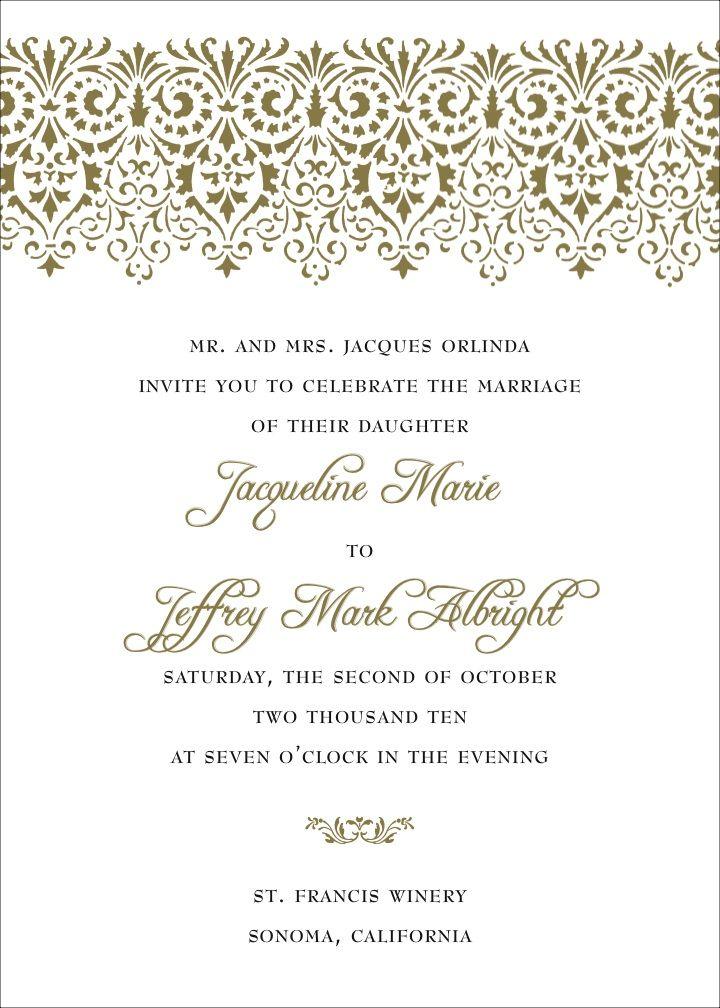 Example Wedding Invitation Wording With Pictures Wedding Invitation Format Wedding Invitation Content Unique Wedding Invitation Wording