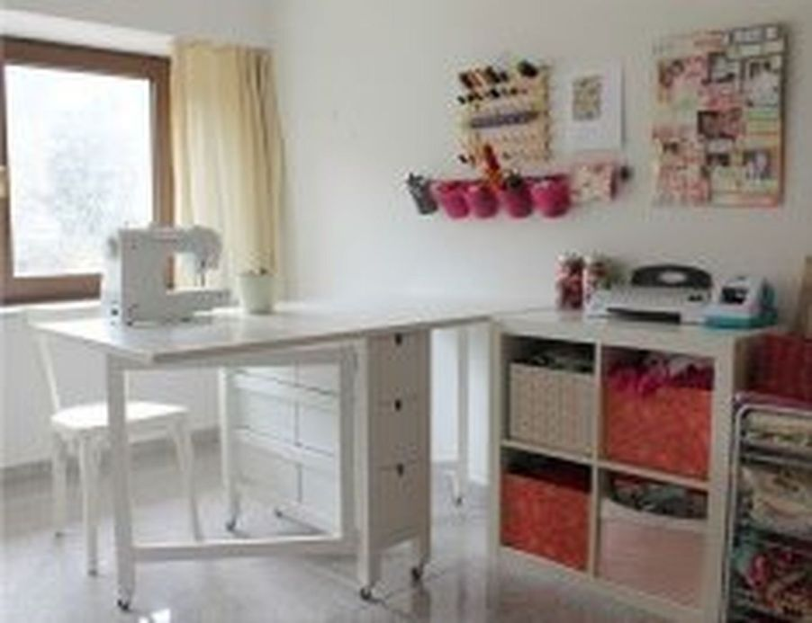 Creating Craft Room And Ideas 6 Ikea Sewing Rooms Sewing Table Sewing Room Furniture