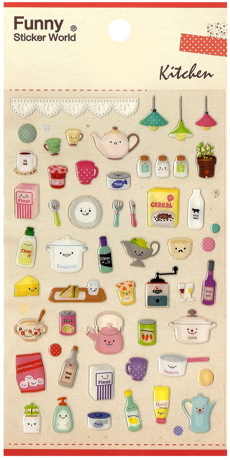 Kawaii Korea Happy Kitchen Jewel Sticker Sheet http://shop ...